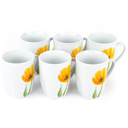 Domestic Sada hrnků Tulip 310 ml, 6 ks