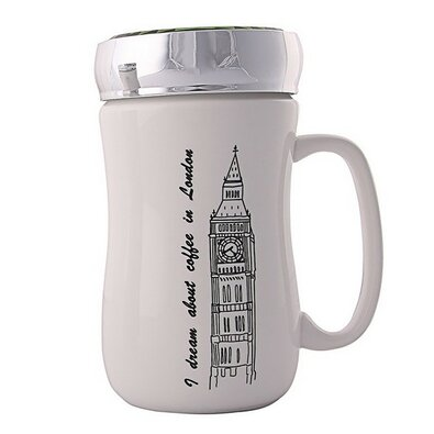 Altom Porcelánový hrnček s viečkom London 400 ml