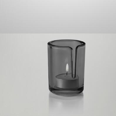 Svícen Match 8 cm, šedý