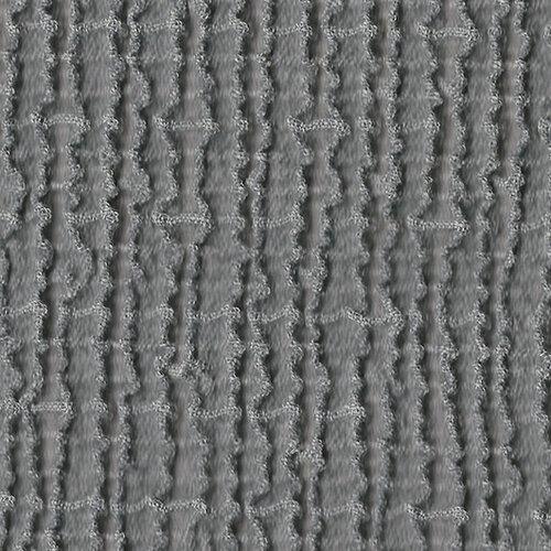 Multielastický potah na taburet Cagliari šedá, 40 - 60 cm