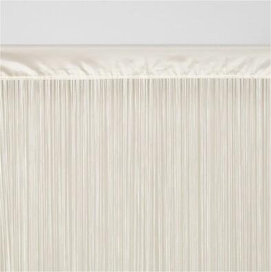 Provázková záclona Cortina do dveří bílá, 90 x 200 cm