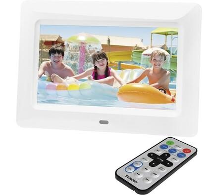 Digitální fotorámeček SDF 760 W, Sencor, bílá, 17, 8 cm