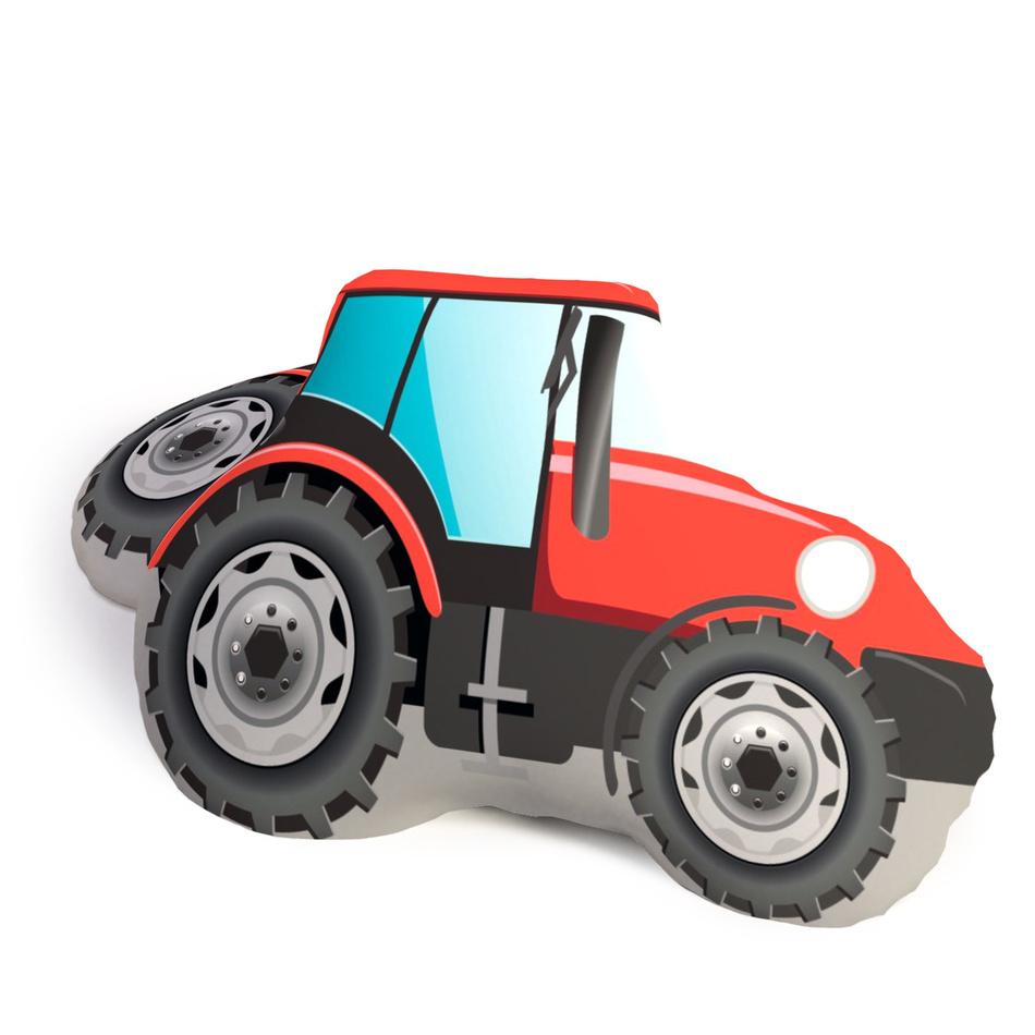 TipTrade Tvarovaný 3D polštářek Traktor, 25 x 35 cm