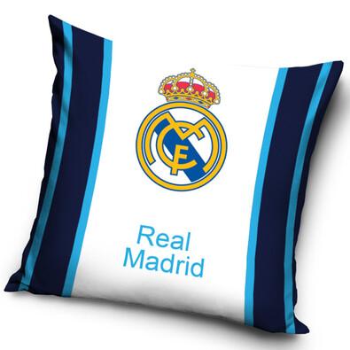 Polštářek FC Real Madrid Blue Stripes, 40 x 40 cm