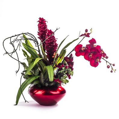 Umělá květina aranžmá orchideje a bromelie