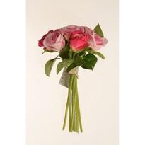 Mű rózsabimbó csokor, 22 cm
