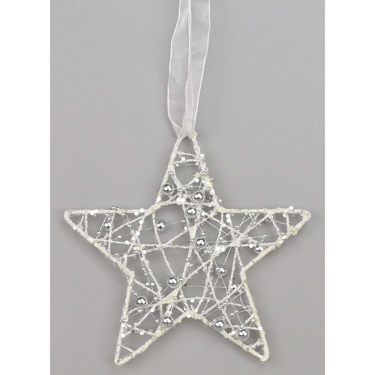 Vánoční hvězda Visalia bílá, 15 cm