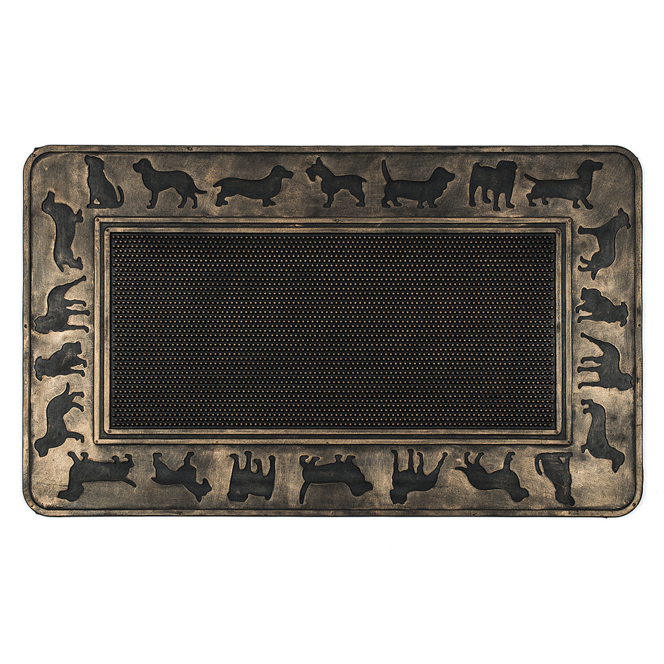 BO-MA Trading Venkovní rohožka Psi, 45 x 75 cm