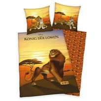 Herding Dziecięca pościel bawełniana Lion King, 140 x 200 cm, 70 x 90 cm
