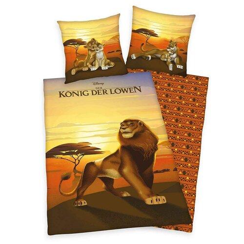 Herding Dětské bavlněné povlečení Lion King, 140 x 200 cm, 70 x 90 cm