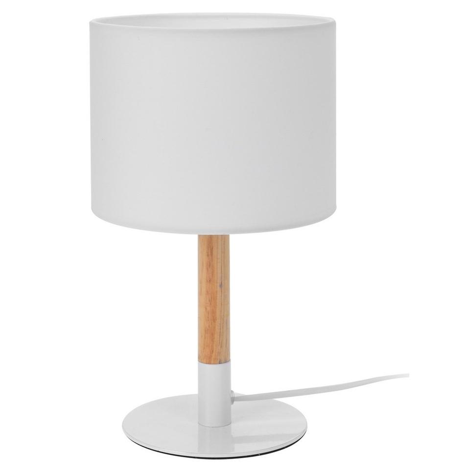 Stolní lampička WOOD, bílá