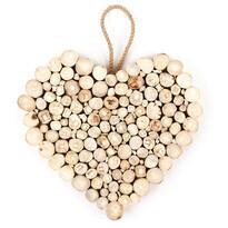 Závěsná dekorace Dřevěné srdce Fermé, 30 cm
