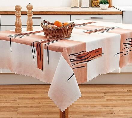 Hnědý teflonový ubrus, 120 x 140 cm