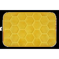 Domarex Koberček z pamäťovej peny Honeycomb, žltá, 38 x 58 cm