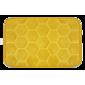 Domarex Honeycomb memóriahabos szőnyeg,sárga, 38 x 58 cm