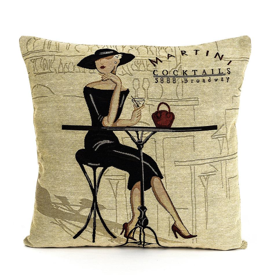 BO-MA Trading Obliečka na vankúšik Gobelín Kokteil 45 x 45 cm