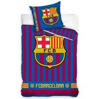 Pościel bawełniana FC Barcelona Stripes, 140 x 200 cm, 70 x 80 cm