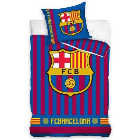 FC Barcelona Stripes pamut ágynemű, 140 x 200 cm, 70 x 80 cm