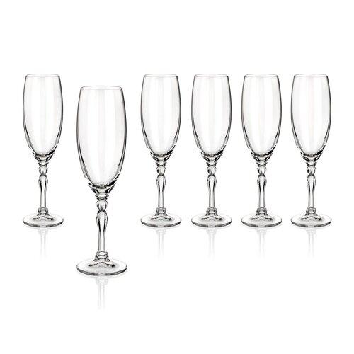 Banquet Crystal Lucille pezsgőspohár készlet190 ml, 6 db