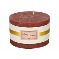 Dekorativní svíčka Elegance Káva a skořice, pr. 13 cm