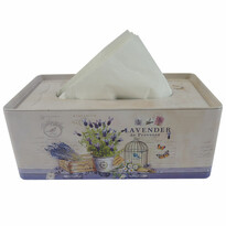 Plechový box na kapesníky Levandule, 24 cm