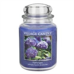 Village Candle Vonná svíčka ve skle, Hortenzie - Hydrangea, 645 g, 645 g