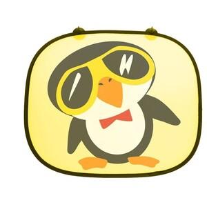 Sluneční clona Tučňák žlutá, 2 ks