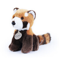 Panda Rappa, din pluș, roșu, 18 cm