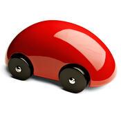 Auto Streamliner 13,5 cm, červené