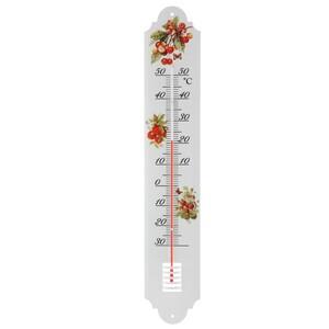 Kovový teploměr Berries, 50 cm