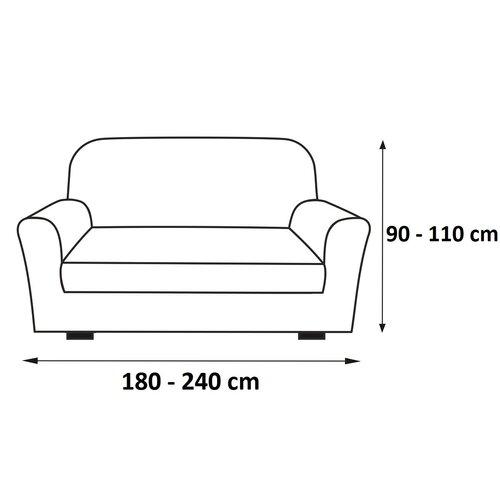 Multielastický poťah na sedaciu súpravu Sada sivá, 180 - 240 cm