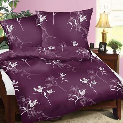 Bavlněné povlečení Tamara fialová, 140 x 200 cm, 70 x 90 cm