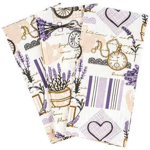 Provence törlőruha, 50 x 70 cm, 3 db-os szett