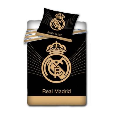 Bavlněné povlečení Real Madrid - Black, 140 x 200 cm, 70 x 80 cm