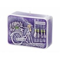 Dekoratívna sviečka Lavender Kiss, hranol