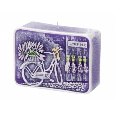 Dekorativní svíčka Lavender Kiss, hranol