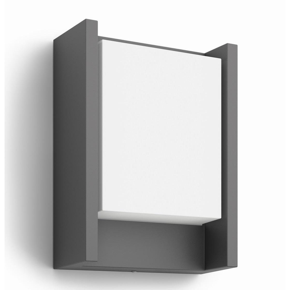 Philips 16460/93/16 Arbour Venkovní nástěnné LED svítidlo 22 cm, antracit