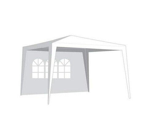 Kerti sátor oldalfal, ablakkal 2,95 x 1,9 m fehér