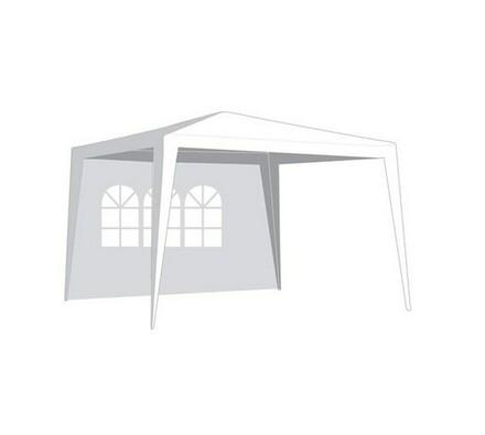 Bočnice zahradního stanu s oknem 2,95 x 1,9 m bílá