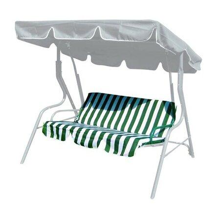 Poduszki na huśtawkę ogrodową, zielone paski