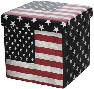 Skládací sedací boxy s potiskem USA