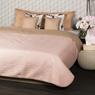 Cuvertură de pat 4Home Doubleface, bej/roz, 220 x 240 cm, 2x 40 x 40 cm