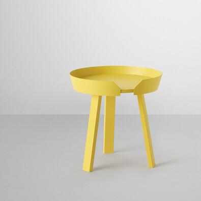 Konferenční stolek Around malý, žlutý