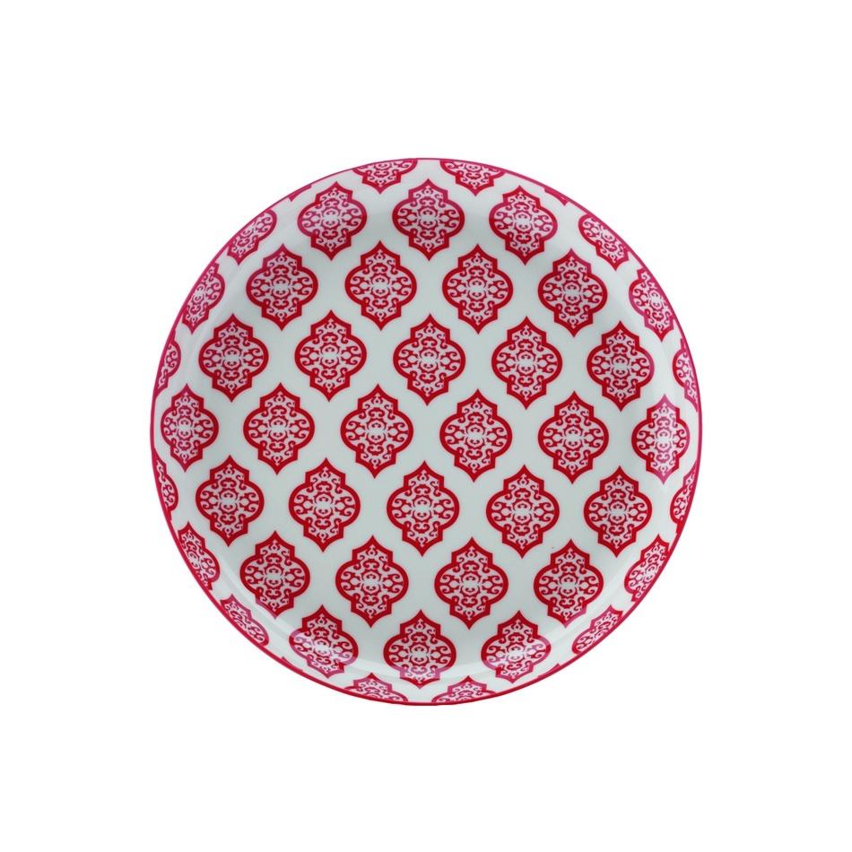 Maxwell&Williams Mělký talíř Alcazar Red Circ 23 cm červený
