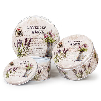3dílná sada dóz Lavender