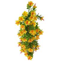Floare artificială Hibiscus portocaliu, 40 cm