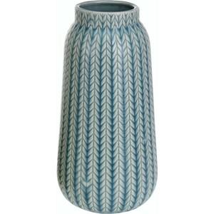 Porcelánová váza Knit tyrkysová, 24,5 cm