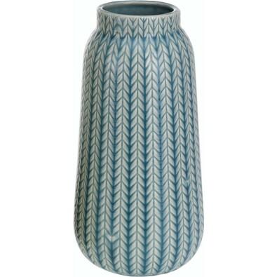 Vază din porţelan Knit, turcoaz, 24,5 cm