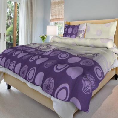 Bavlněné povlečení Silva lila, 220 x 200 cm, 2 ks 70 x 90 cm
