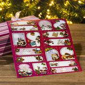 Samolepící štítky na dárky, 2 ks